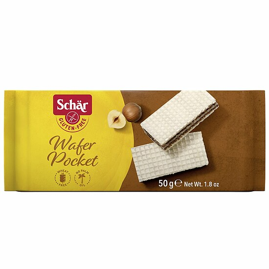 Wafer pocket - Haselnusscreme-Waffeln 50g