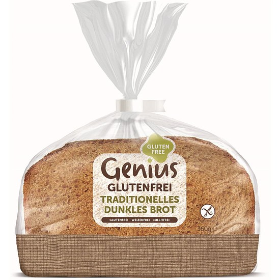 Traditionelles Dunkles Brot geschnitten 360g