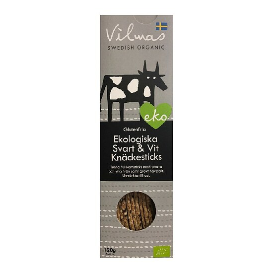 Bio Black & White Knäckebrot-Sticks 120g