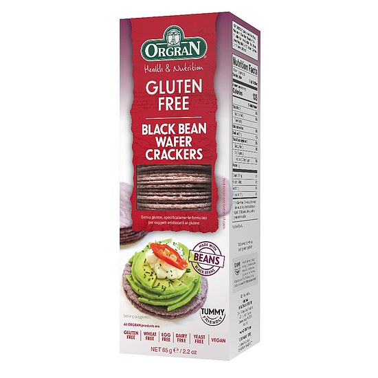 Black Bean Wafffelcracker 65g