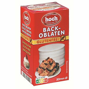 Glutenfreie Back-Oblaten 50mm Ø / 75 Stk.