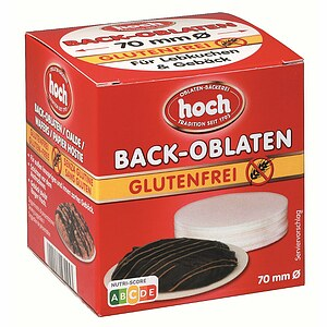 Glutenfreie Back-Oblaten 70mm Ø / 75 Stk.