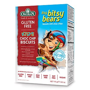 Itsy Bitsy Bears Choc Chip Cookies 175g