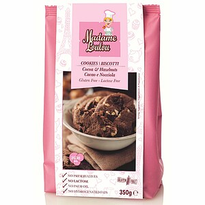 Haselnuss und Kakao Cookie Mix 350g