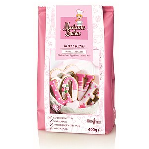 Royal Icing Glasur-Mix gelb m. Vanillegeschmack 100g